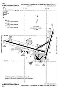 Louis Armstrong New Orleans International Airport (MSY) Diagram