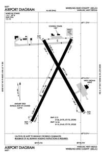 Aero Flight Center Airport (HLG) Diagram