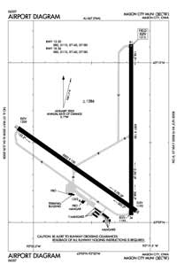 Emmetsburg Municipal Airport (MCW) Diagram