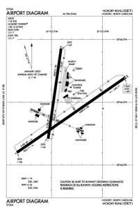 Hensley Airpark Airport (HKY) Diagram