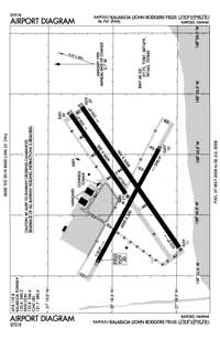 Kalaeloa (John Rodgers Field) Airport (JRF) Diagram