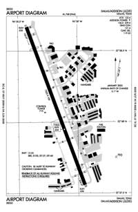 Rhines Roost Airport (ADS) Diagram