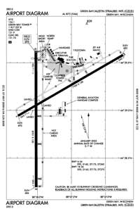Lilienthal Airport (GRB) Diagram