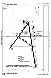 Decatur County Industrial Air Park Airport (VLD) Diagram