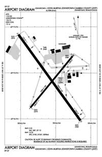 Sweet Valley Airport (JST) Diagram