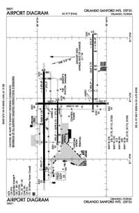 Orlando Sanford International Airport (SFB) Diagram