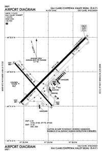 Cable Union Airport (EAU) Diagram