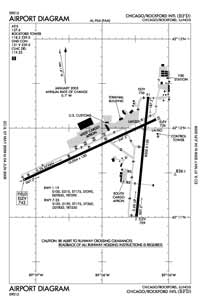 Johnson Airport (RFD) Diagram