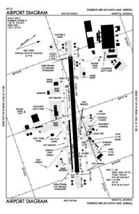 Dobbins Air Reserve Base Airport (MGE) Diagram