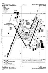 Wichita Dwight D Eisenhower National Airport (ICT) Diagram