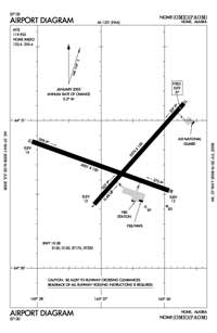 Nome City Field Airport (OME) Diagram