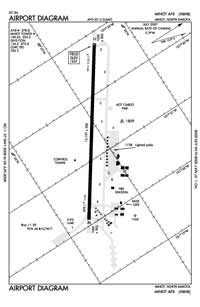 Minot AFB Airport (MIB) Diagram