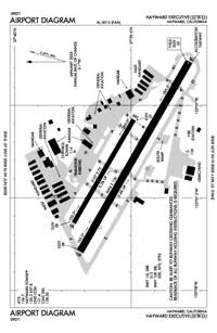 Hayward Executive Airport (HWD) Diagram