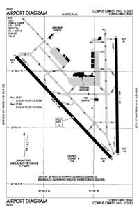 Old Reb Airport (CRP) Diagram