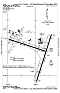Central Il Regional Airport At Bloomington-Normal Airport (BMI) Diagram