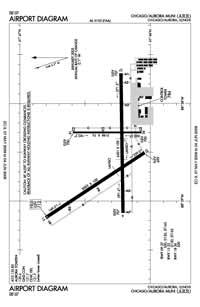 Foote Airport (AUZ) Diagram
