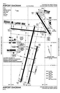 Dupage Airport (DPA) Diagram