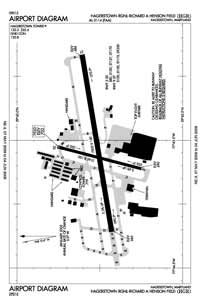 Hagerstown Regional-Richard A Henson Field Airport (HGR) Diagram
