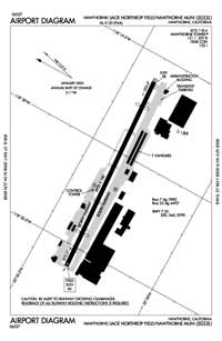 Jack Northrop Field/Hawthorne Municipal Airport (HHR) Diagram