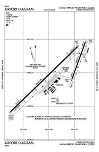Cataney Airport (LBE) Diagram
