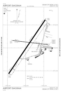 Cedar City Regional Airport (CDC) Diagram