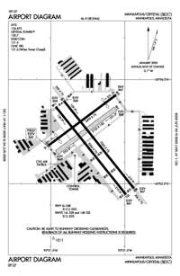 Crystal Airport (MIC) Diagram