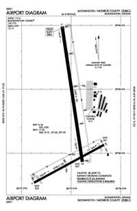 Monroe County Airport (BMG) Diagram