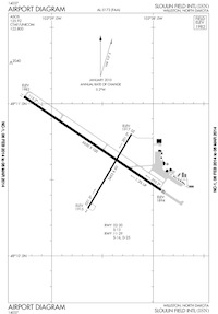 Stoughton Farm Airstrip Airport (ISN) Diagram