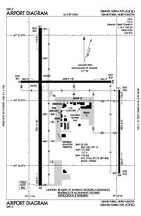 Maddock Municipal Airport (GFK) Diagram