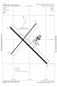 Robertson Field Airport (TVF) Diagram