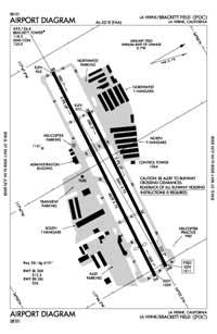 Brackett Field Airport (POC) Diagram