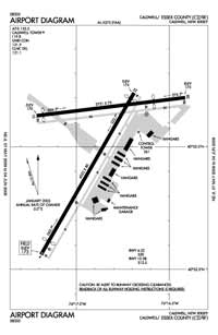 Essex County Airport (CDW) Diagram