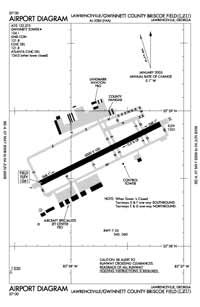 Gwinnett County - Briscoe Field Airport (KLZU) Diagram