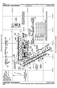 North Cedar Airport (IAH) Diagram
