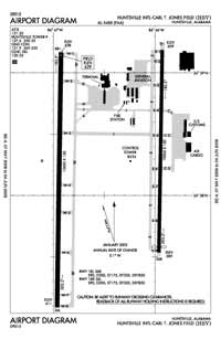 Huntsville International-Carl T Jones Field Airport (HSV) Diagram
