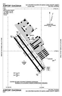 Oakdale Airport (RHV) Diagram