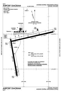 Sweetwater Bay Seaplane Base (CWA) Diagram