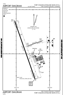 Northern Colorado Regional Airport (FNL) Diagram