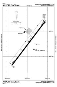 Lee C Fine Memorial Airport (AIZ) Diagram