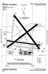 Pompano Beach Airpark Airport (PPM) Diagram