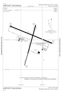 Sparta/Fort Mc Coy Airport (CMY) Diagram
