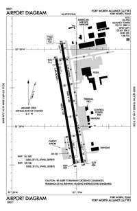 Thurber Lake Airport (AFW) Diagram