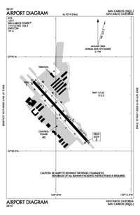 San Carlos Airport (SQL) Diagram