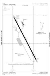 Camp Guernsey Airport (KGUR) Diagram