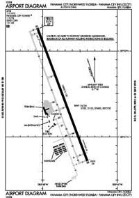 Santa Rosa Medical Center Heliport (ECP) Diagram