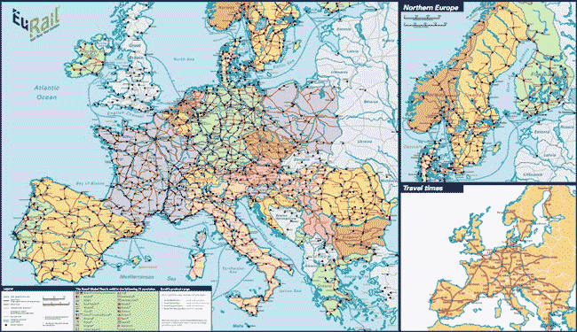 Europe Rail Map Airport Guide