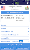 Airport Guide app Airport Detail