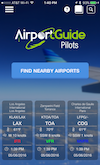 Airport Guide app Home Page