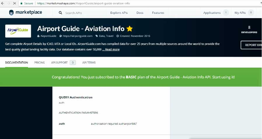 Step 4-2 Aviation Info Subscribed