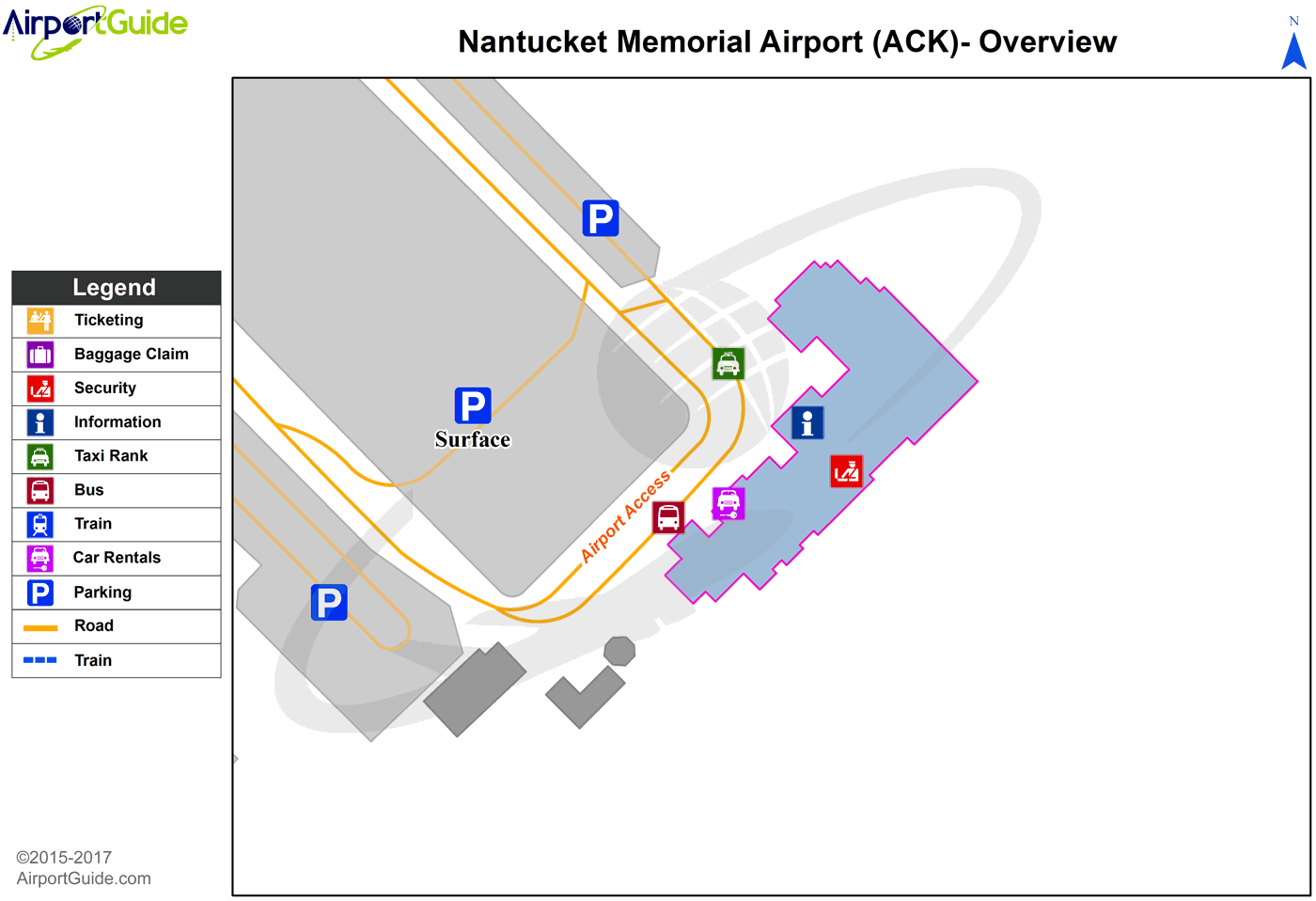 Nantucket - Nantucket Memorial (ACK) Airport Terminal Map - Overview